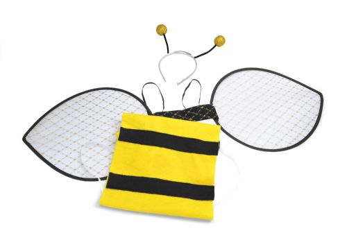 Bumble Bee Set Adult Fancy Dress Up Kit Wasp Insect Bee Fancy Dress Outfit